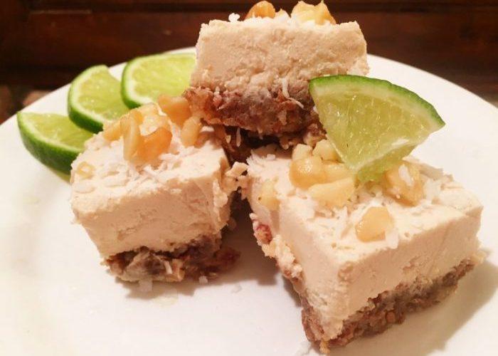 Raw Vegan Macadamia Nut Lime Cheesecake